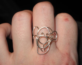 Wire Wrapped Tigger Ring MADE to ORDER