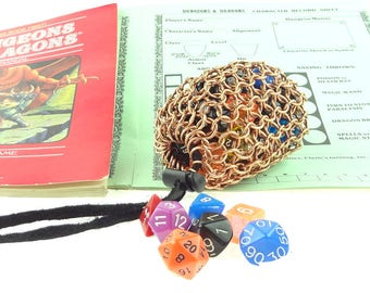Dungeons And Dragons Dice Bag - Heavy Copper - Magic The Gathering - Medium Pouch - SKDB-C-M