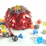 Dungeons & Dragons Large Dice Bag Red Scalemaille And Chainmaille Aluminum - SDB-L-R