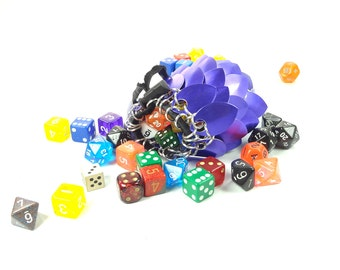 Dungeons And Dragons Royal Purple Dice Bag Chainmaille And Scales Medium Aluminum - SKDB-SC-M-PL