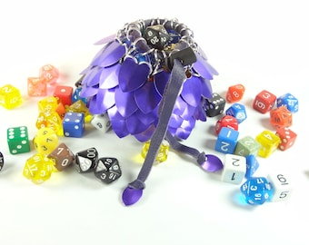 Dungeons & Dragons Large Dice Bag Purple Scalemaille And Chainmaille Aluminum - SKDB-SC-L-PL