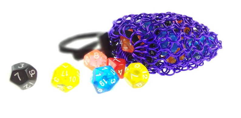 Purple Chainmail Dungeons And Dragons Dice Bag image 0