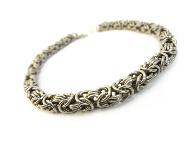 Heavy Duty Choker  Chainmaille Byzantine Weave  Large image 0