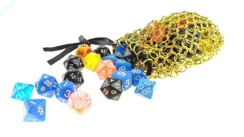 Golden Dice Bag For Your Dungeons And Dragons Gaming image 0