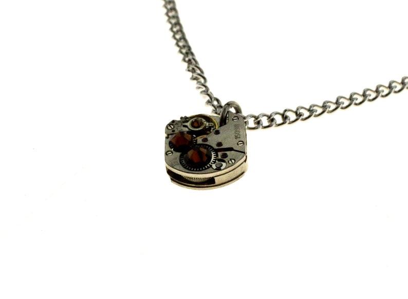 Steampunk Necklace Clockwork With Beautiful Brown Swarovski image 1
