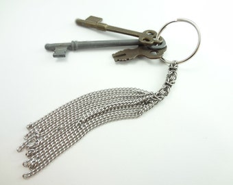 Chainmaille Byzantine Cat O 9 Tails Key Ring