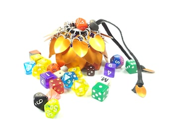 Dungeons & Dragons Orange Dice Bag Scalemaille And Chainmaille Aluminum - SDB-S-O