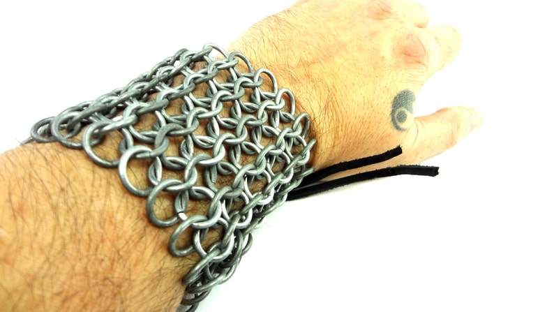 Chainmaille Armor Bracer Arm Guard Cuff image 0