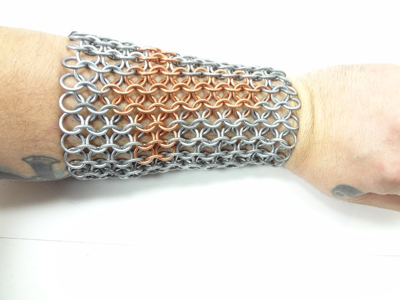 Knight In Shining Armor Inlaid Chainmaille Vambrace Arm Guard image 0