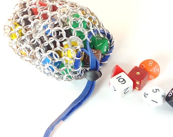Chainmail Dice Bag For Dungeons And Dragons Many Colors Available