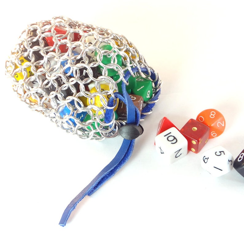 Chainmail Dice Bag For Dungeons And Dragons Many Colors image 0