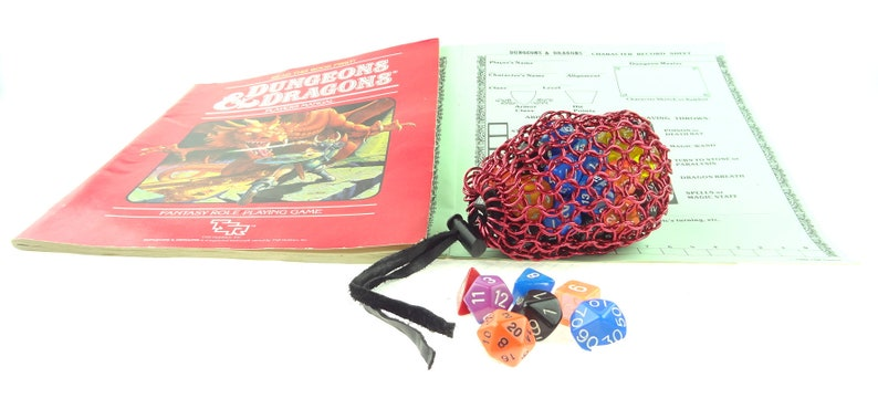 Dungeons And Dragons Red Chainmail Dice Bag image 0