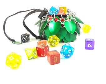 Dungeons & Dragons Green Dice Bag Scalemaille And Chainmaille Aluminum - SDB-S-G