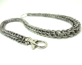 Punk Rock Chainmaille Wallet Chain Persian Weave