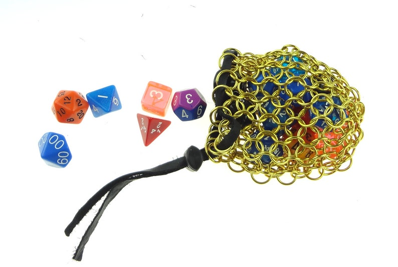 Chainmaille Dice Bag For Dungeons And Dragons image 0