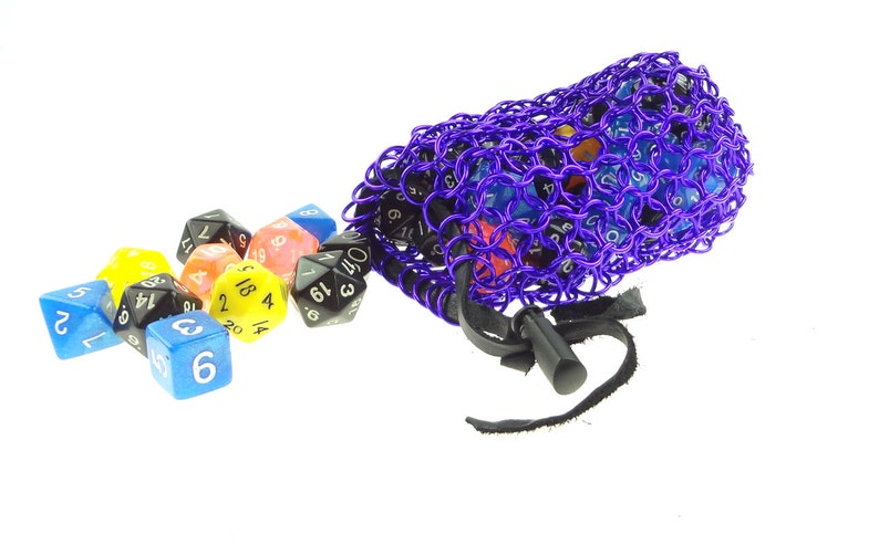 Purple Dice Bag Perfect For Dungeons And Dragons Gaming image 0