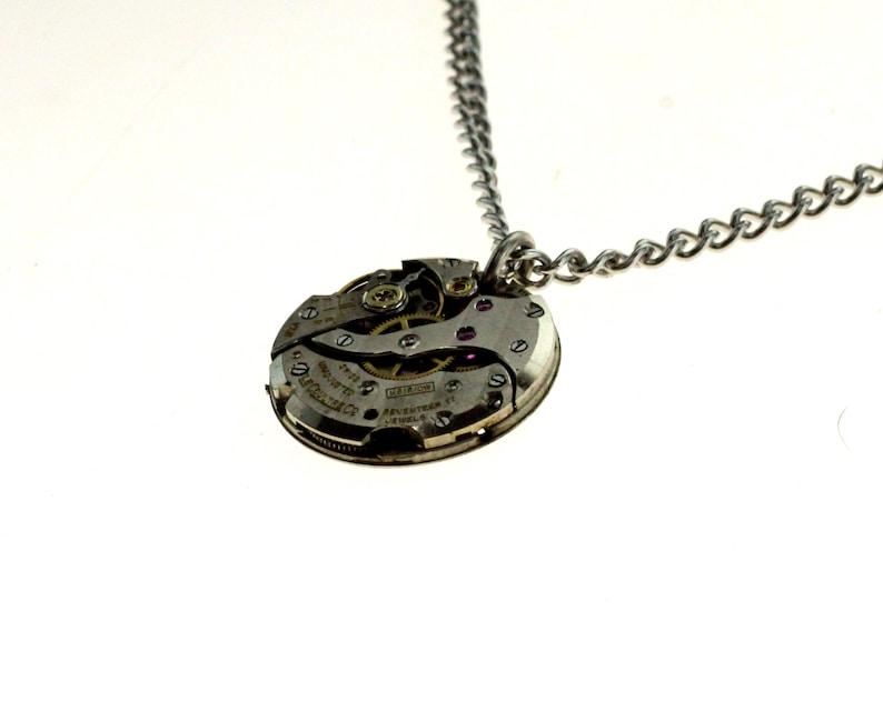 Steampunk Necklace Clockwork Pendant image 1
