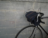 Bicycle Accessory, Blue waxed canvas handle bar bag, bike bag