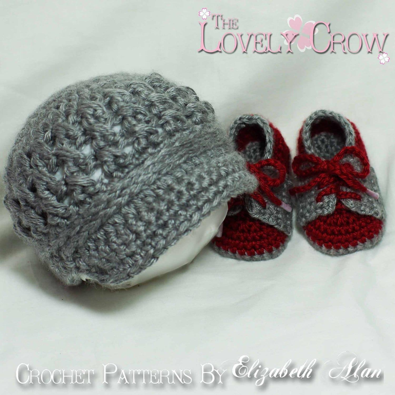 Baby Boy Crochet Pattern Includes Little Sport Newsboy Hat And Etsy