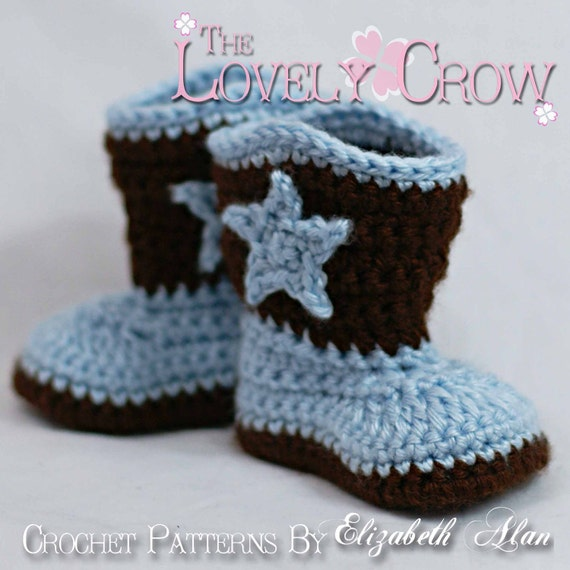 Cowboy Boots Crochet Pattern For Baby Boot Scootn Boots Etsy