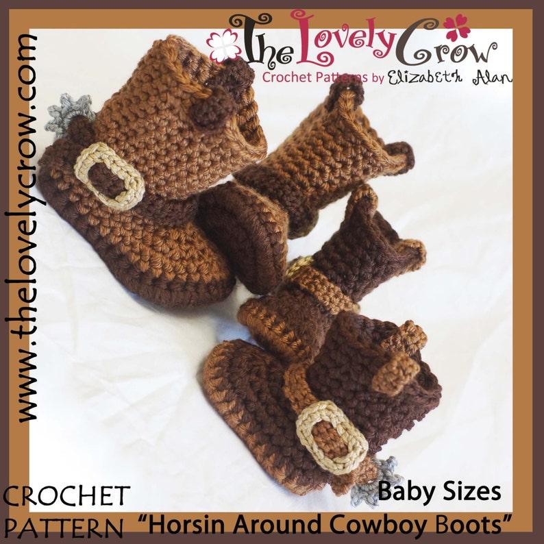 Cowboy Boots Crochet Pattern Baby Sizes