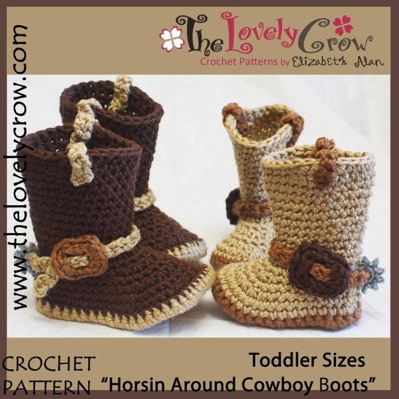 Crochet Pattern Toddler Cowboy Boots Etsy
