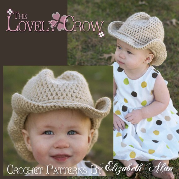 Western Crochet Pattern Cowboy Hat for BOOT SCOOT\'N