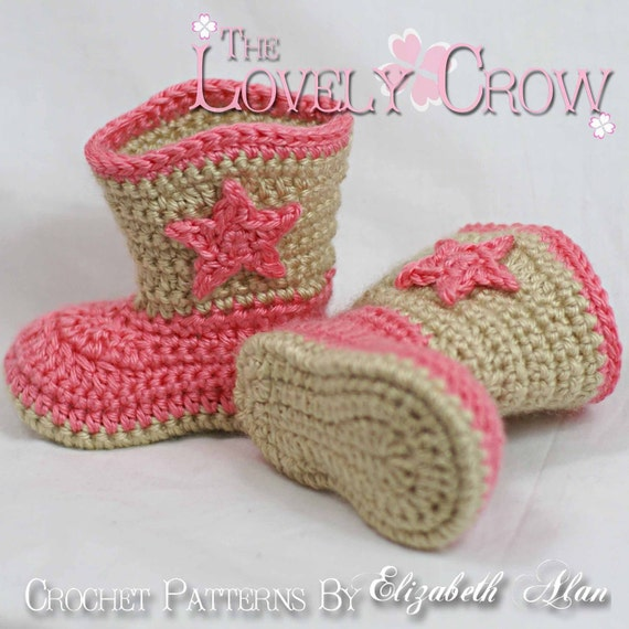 Crochet Pattern Cowboy Boots For Baby Boot Scootn Boots Etsy