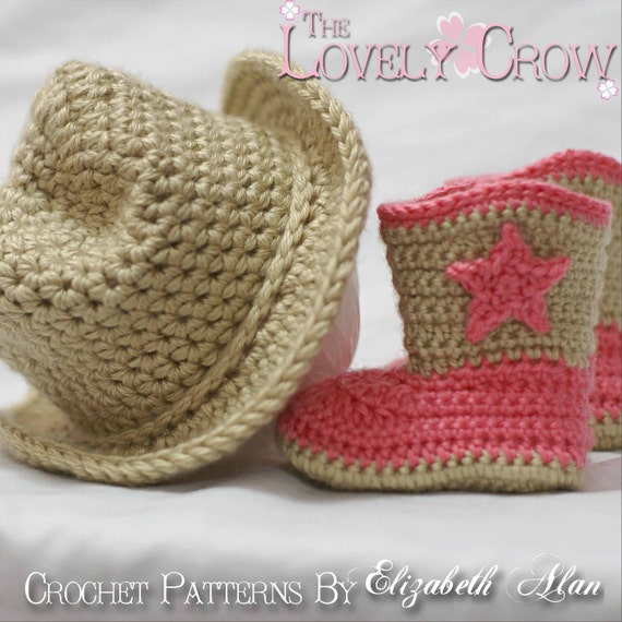 Cowboy Crochet Patterns Includes Patterns For Boot Etsy