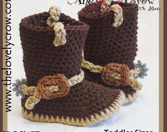 Cowboy Boots Crochet Pattern  Toddler Sizes