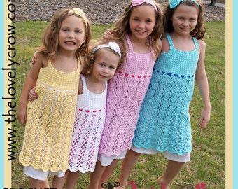 Crochet Pattern Girls Dress BELA LENA DRESS