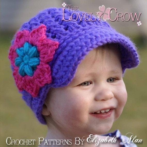 Baby Newsboy Beanie Crochet Pattern Little Sport Newsboy Hat Etsy
