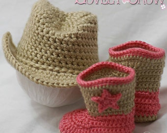 Cowboy Hat Cowboy Boots Crochet Patterns. Includes patterns for Boot Scoot'n Boots and Boot Scoot'n Cowboy Hat digital
