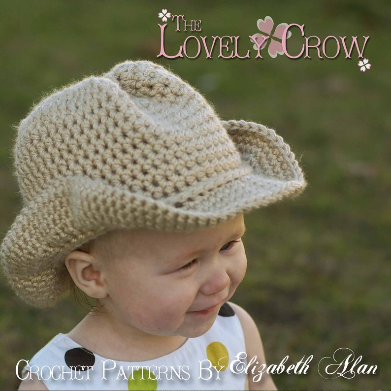 Baby Crochet Pattern Cowboy Hat For Boot Scootn Cowboy Etsy