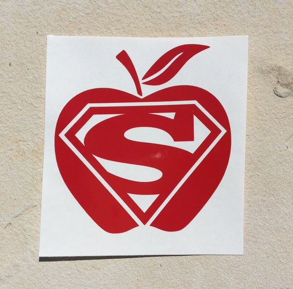Teacher Decal, Super Teacher Decal, Superman Decal, Apple Decal, Vinyl  Decal, Car Sticker, Yeti Decal, Word Art Decal, Monogram Decal