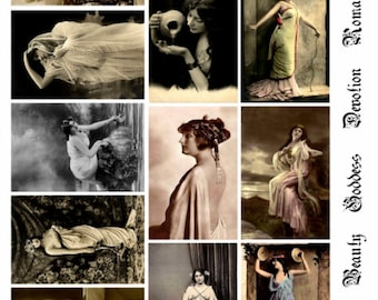 Greco Roman Beauties V3 - Women Collage Sheet, Vintage Photos, Digital Download JPG file by Swing Shift Designs