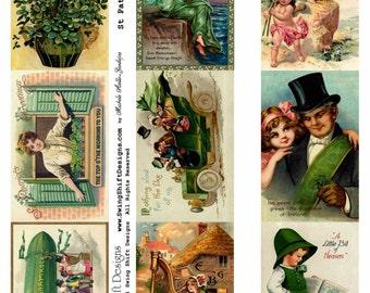 St Patrick's Day Collage Sheet V1, Green, Clover - Digital Download JPG file by Swing Shift Designs