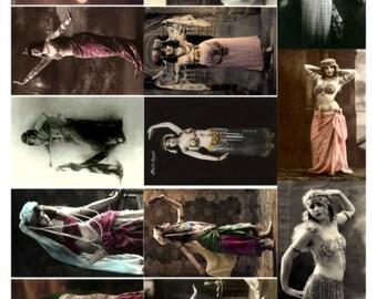 Dancers V2, Vintage Photos of Women Dancing Collage Sheet - Digital Download JPG File by Swing Shift Designs