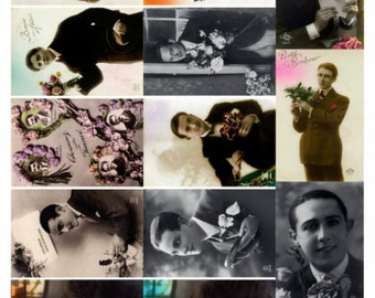 Gentlemen V2 - Men's Collage Sheet, Vintage Photos, Digital Download JPG file by Swing Shift Designs
