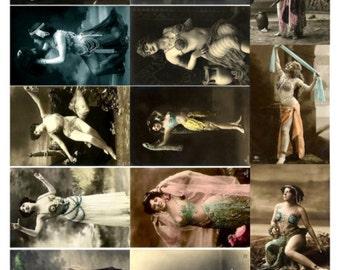 Dancers V3, Vintage Photos of Women Dancing Collage Sheet - Digital Download JPG File by Swing Shift Designs