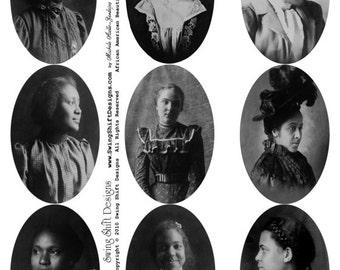 African American Beauties V2 - Ladies Collage Sheet, Digital Download JPG file by Swing Shift Designs