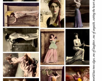 Greco Roman Beauties V4 - Women Collage Sheet, Vintage Photos, Digital Download JPG file by Swing Shift Designs