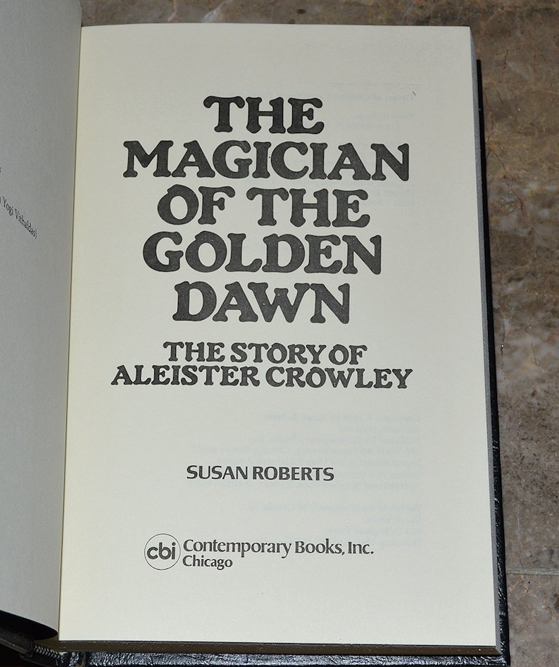 Magician of The Golden Dawn - Story of Aleister Crowley - Vintage Occult /  Esoteric / Magick Book - Hardcover w/ DJ - Excellent Condition!