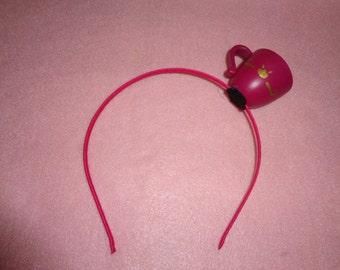 Small Pink Teacup Headband