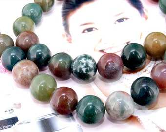 "Super Round Agate 12mm Gemstone beads Loose One strand 15.5"""