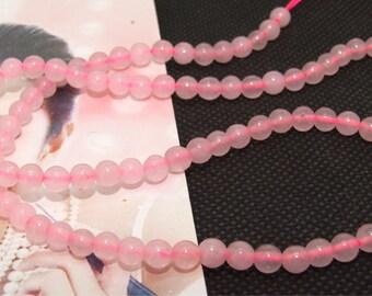 "Loose Gemstone pink jade gemstone 5mm bead full 2strands 15.5"""