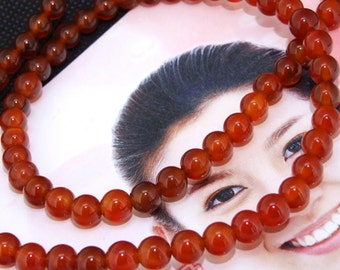 """Red Agate 6mm Gemstone beads Loose One strand 15.5"""""""