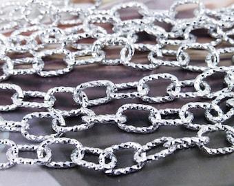 "Long Shiny Loop Copper Metal Chain 2mm---38"""