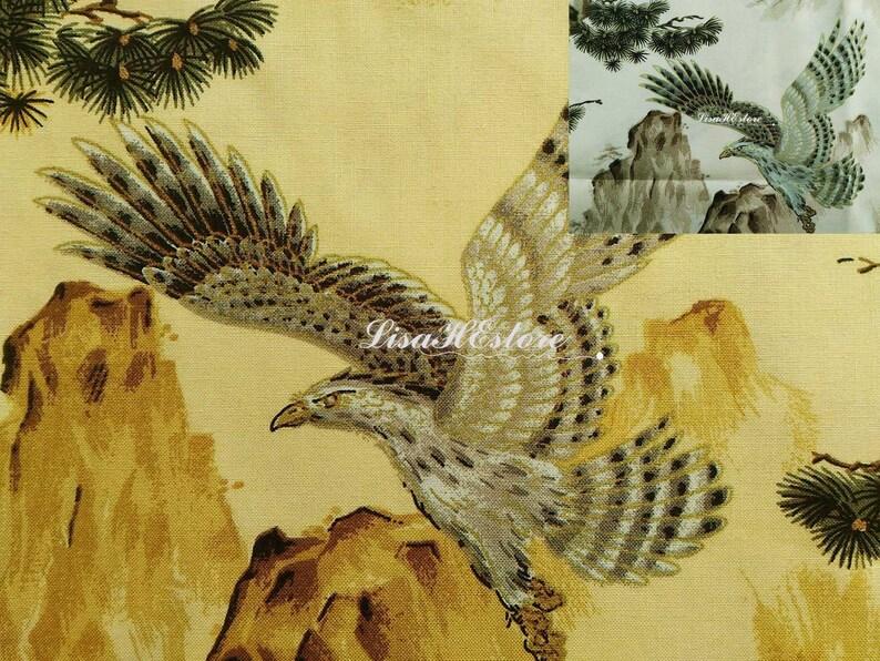 pine and mountain 12 yard Eagle pure cotton fabric