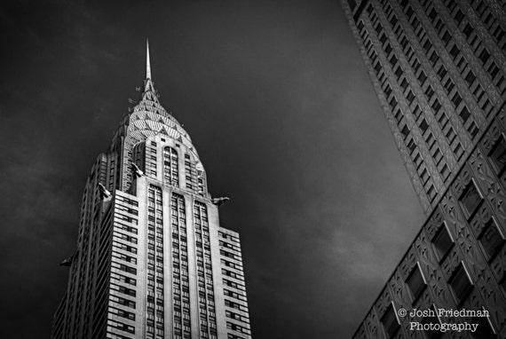 Chrysler Building New York City Photograph Black And White